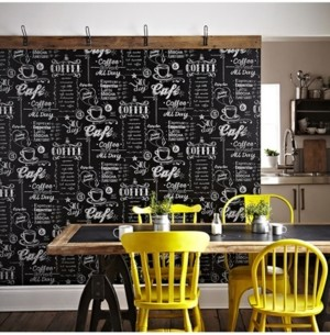 Graham & Brown Coffee Shop Black and White Wallpaper