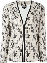 Giorgio Armani embroidery detail blazer - women - Cotton/Viscose/Silk - 42