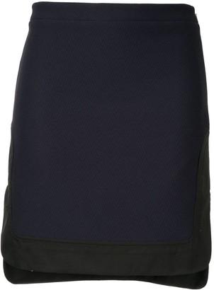 No.21 step hem mini skirt