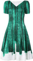 Oscar de la Renta printed split neck dress