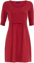 Raspberry bow knitted  dress