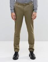 Asos Skinny Trousers In Khaki