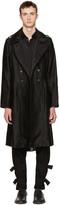 Ann Demeulemeester Black Military Button Coat