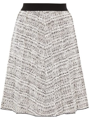 Giambattista Valli High-rise Boucle Skirt - Womens - White Black