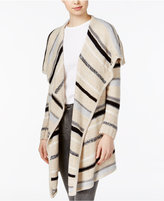 Kensie Striped Draped Cardigan