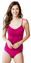Lands' End Women's Petite Beach Living Adjustable Top-Cerise Pink