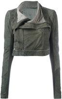 Rick Owens concealed zip biker jacket