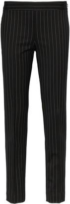 Moschino High-Waisted Skinny Pinstripe Trousers
