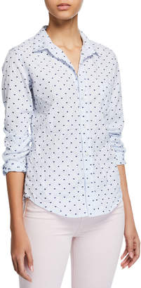 Frank And Eileen Barry Long-Sleeve Button-Down Shirt, Blue Pattern