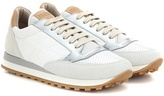 Brunello Cucinelli Paper Effect leather and suede sneakers