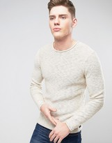 ONLY & SONS Knitted Sweater in Loose Knit and Raw Hem