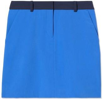 Tory Burch Two-Tone Tech Twill Golf Skirt