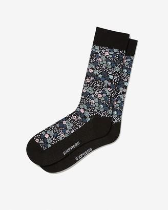 Express Floral Print Dress Socks
