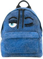 Chiara Ferragni backpack with bead embellished detail - women - Cotton/Leather/glass - One Size