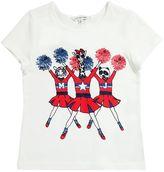 Little Marc Jacobs Cheerleaders Print Cotton Jersey T-Shirt