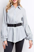 Easel Button-Down Blouse