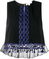 Jonathan Simkhai embroidered sleeveless blouse - women - Polyester/Spandex/Elastane/Acetate/Viscose - M
