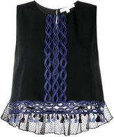 Jonathan Simkhai embroidered sleeveless blouse - women - Viscose/Acetate/Spandex/Elastane/Polyester - XS