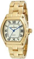 Peugeot Women's 14K Gold Plated Tank Roman Numeral Dress Bracelet Watch 7069G