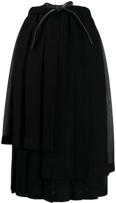 Loewe pleated layer skirt