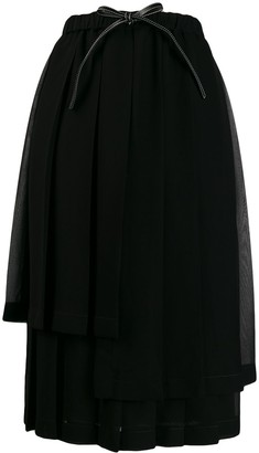 Loewe Pleated Layer Skirt