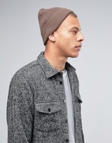 Asos Fisherman Beanie In Mink