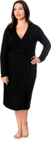 Motherhood Plus Size Empire Waist Nursing Nightgown And Robe