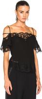 Givenchy Off Shoulder Silk Camisole