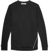 McQ Zip-detailed Loopback Cotton-jersey Sweatshirt - Black