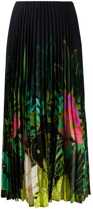 Valentino Mirrored Monkeys Forest pleated skirt