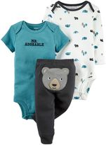 Carter's Baby Boy 3-pc. Woodland Bodysuit & Pants Set