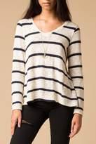 Splendid Striped Fly Back Sweater