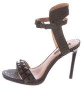 Rachel Zoe Spiked Embossed Sandals