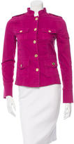 Tory Burch Standing Collar Military Jacket