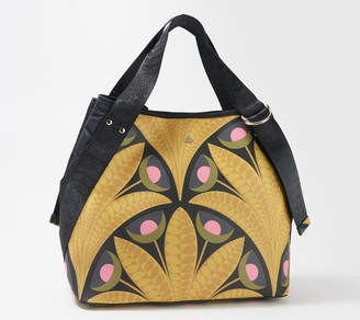 Orla Kiely Printed Pebble Grain Shoulder Bag - Gondola