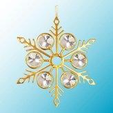 "Mascot Intl Large Swarovski Crystal & 24K Gold Plated 3.5"" Snowflake Ornament or Suncatcher"