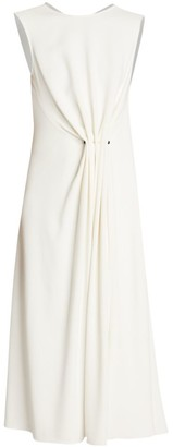 Victoria Beckham Draped Fit-&-Flare Dress