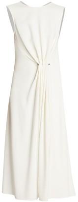 Victoria Beckham Draped Fit-&-Flare Dress