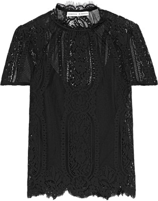 Rebecca Minkoff Yasmin Scalloped Cotton-blend Lace T-shirt