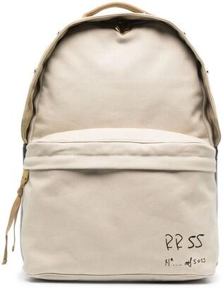 Diesel Logo-Print Zip-Up Backpack