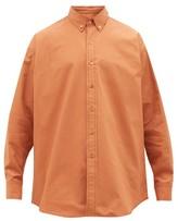 Sies Marjan Anderson Cotton-blend Canvas Shirt - Mens - Orange