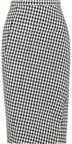 Altuzarra Vic Houndstooth Stretch-crepe Pencil Skirt - Black