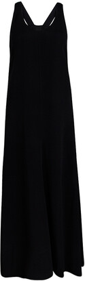 Joseph Black Knit Ribbon Strap Detail Sleeveless Penn Midi Dress M