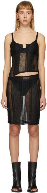 Ann Demeulemeester Black Ignota Cut-Out Slip Dress