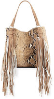 Urban Originals Castaway Faux-Snakeskin Tote Bag, Tan Snake