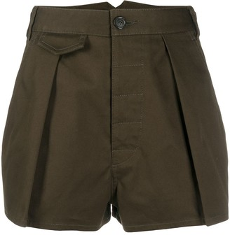 DSQUARED2 High-Rise Pleated Shorts