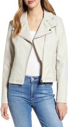 Rachel Parcell Faux Leather Moto Jacket