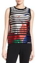 BOSS Petite Women's Inyna Floral Stripe Top
