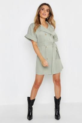 boohoo Oversized Button Front Shirt Dress