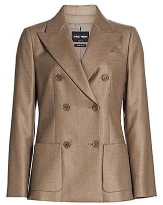 Giorgio Armani Cashmere Double Breasted Jacket